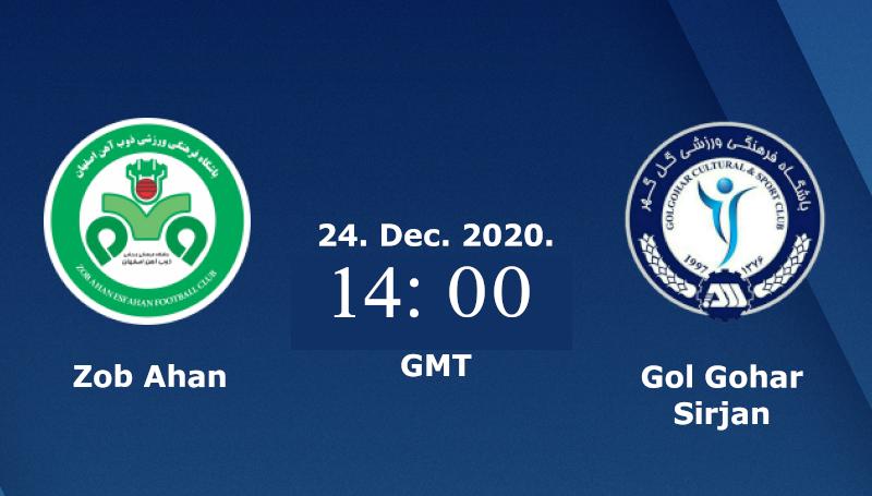 pronostico Zob Ahan vs Gol Gohar