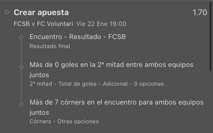 FCSB vs FC Voluntari