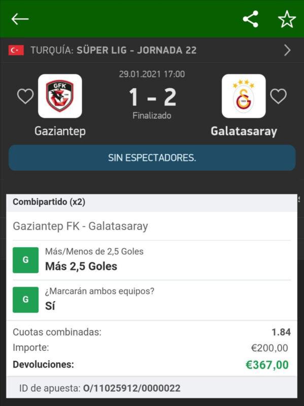 Pronostico Gaziantep vs Galatasaray