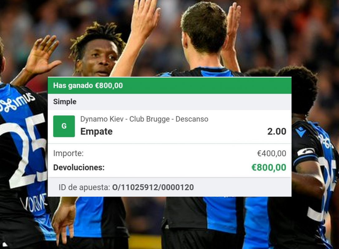 Pronóstico dinamo Kiev vs Club Brujas