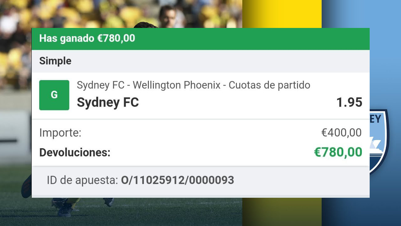pronostico Sydney vs Wellington Phoenix