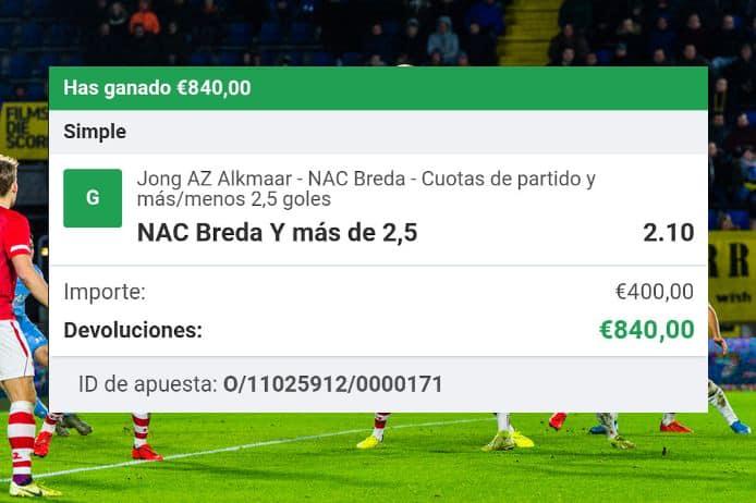 pronstico Jong AZ vs Breda