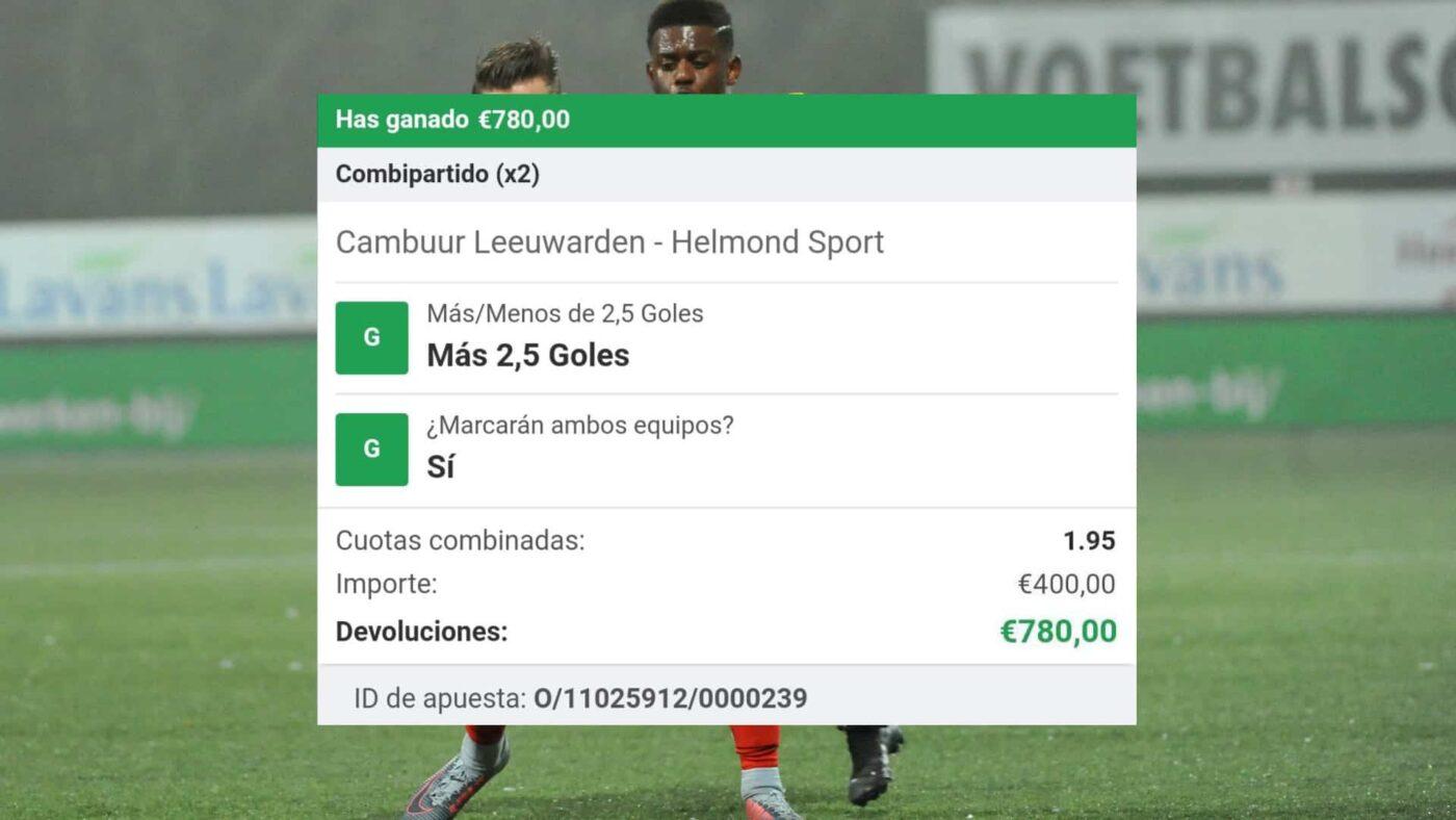 pronostico Cambuur Leeuwarden - Helmond Sport