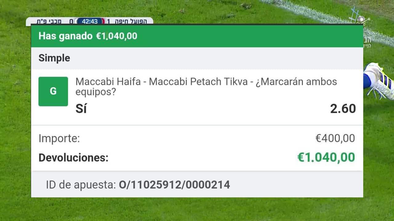 pronostico Maccabi Haifa vs Maccabi Petach Tikva