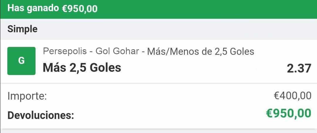 pronostico Persepolis - Gol Gohar