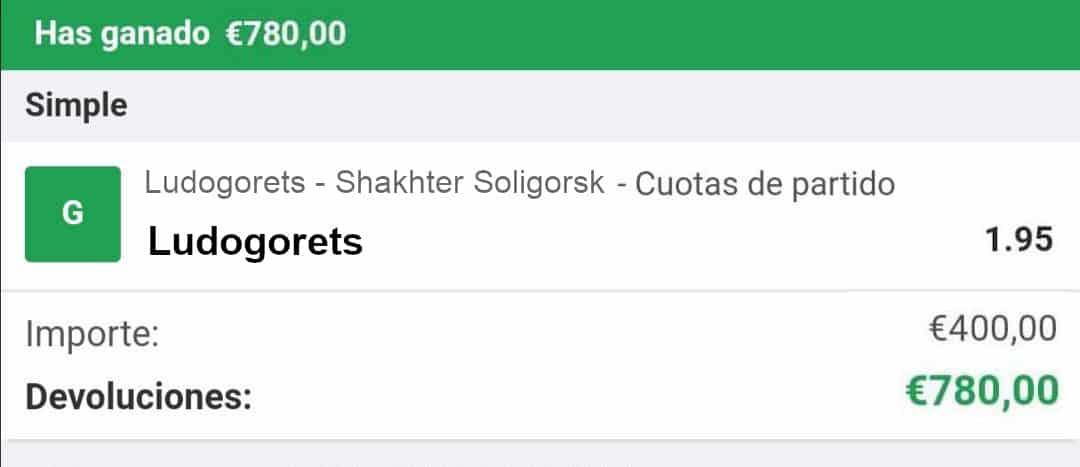 PRONOSTICO Ludogorets vs Shakhter Soligorsk