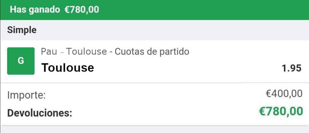Pau vs Toulouse