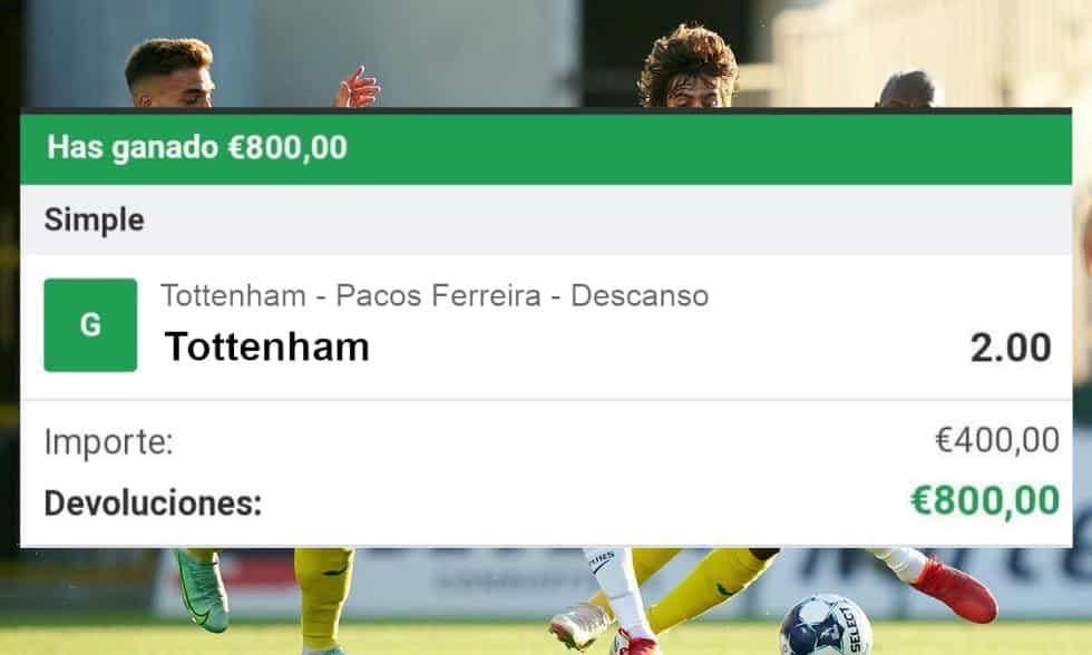 pronostico Tottenham vs Pacos Ferreira