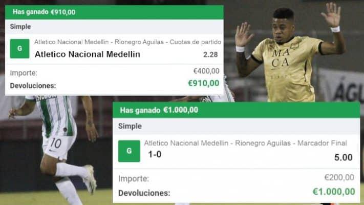 pronostico atletico nacional medellin vs Rionegro Aguilas