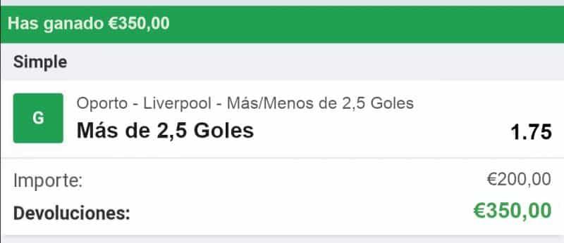 pronostico Oporto vs Liverpool
